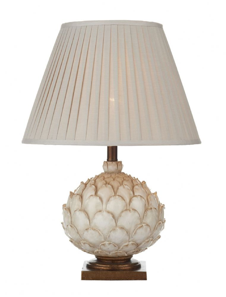 Dar Layer Table Lamp Cream Large complete with Shade LAY4233/X (Class 2 Double Insulated)